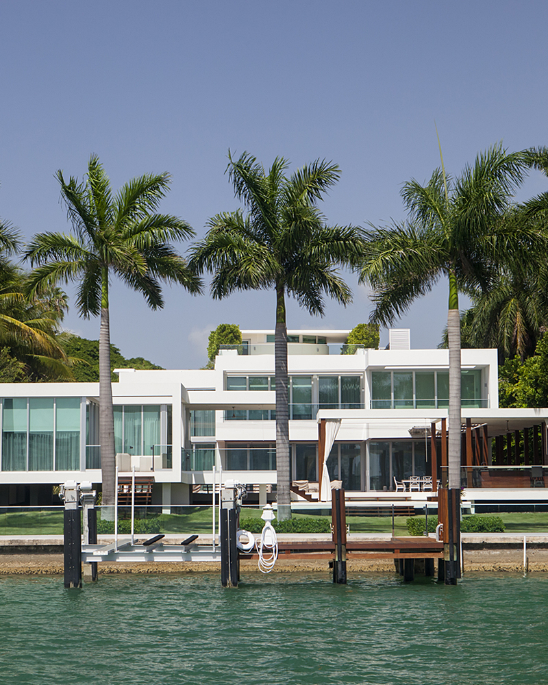 Luxury waterfront Miami home.